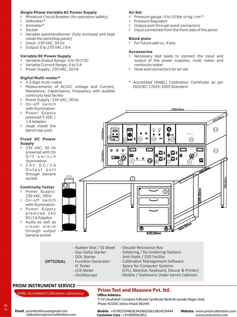 Electrical Calibration Test Bench etb series