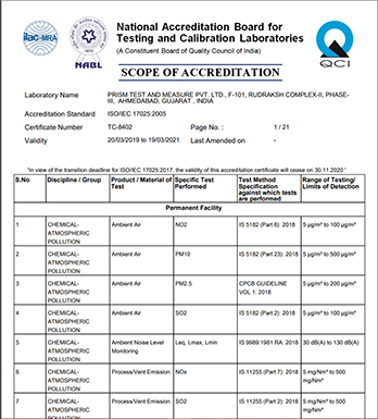environmental NABL Certificate TC-8402