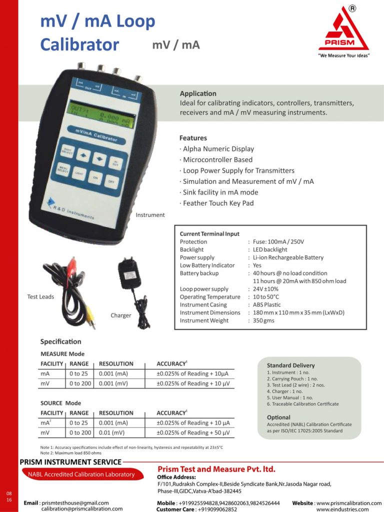 mV/mA Loop Calibrator