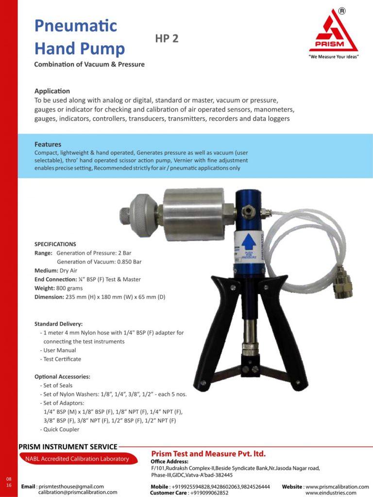 Pneumatic Hand Pump hp 2