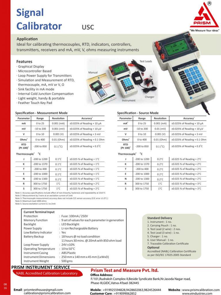 Signal Calibrator usc