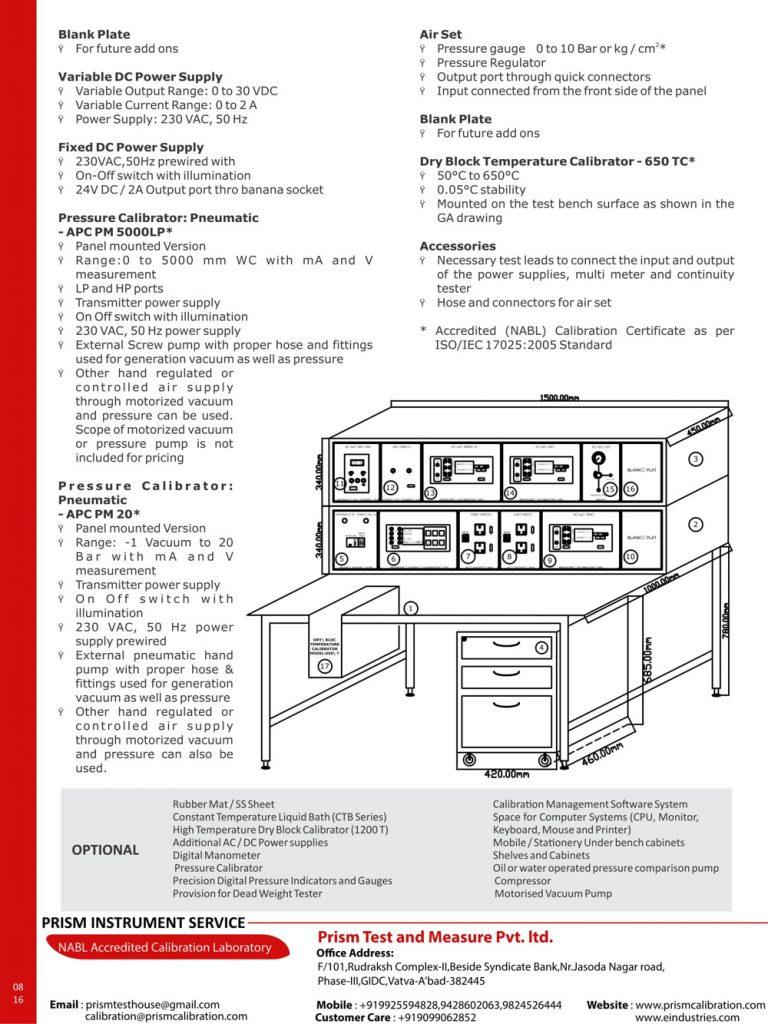 universal calibration test bench utb series
